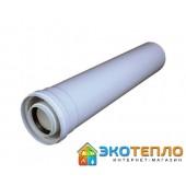 Коаксиальный удлиннитель 60/100/0.5м для подключения дымохода конденсационного котла