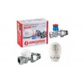 """Комплект Giacomini для подключения радиаторов (термокран), прямой 1/2"""""""