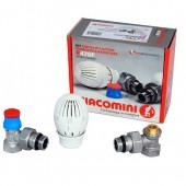 """Комплект Giacomini для подключения радиаторов (термокран), угловой 1/2"""""""