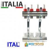 Коллектор для теплого пола ITAL на 5 контуров