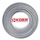 Труба для теплого пола KOER PEX-A EVOH 16*2,0 (SILVER) пятислойная с кислородным барьером (Чехия)