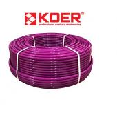 Труба для теплого пола KOER PEX-B EVOH 16*2,0 (PINK) пятислойная с кислородным барьером (Чехия)
