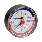 "Термоманометр. 20° ÷ 120°C. 0 ÷ 4 bar 1/2"""
