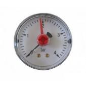 "Манометр MA502/P, 1/4"" (Ø50 мм, 0-10 бар), радиальный, нижний выход, ARTHERMO"