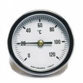 Термометр AR-T/RAD 60 (Ø60 мм, гільза 50 мм, 0-120°С) радиальный, нижний выход