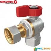 Кран шаровый Giacomini R781PX014 с накидной гайкой угловой 3/4 вн