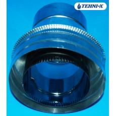Конус переходник  из нержавеющей стали толщиной 0,5 мм в оцинкованном кожухе Ø 120x180 мм