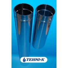Труба дымоходная из нержавеющей стали толщиной 0,5 мм без утеплителя длинной 0,5 м Ø 100 мм