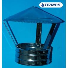 Зонт из нержавеющей стали толщиной 0,5 мм в оцинкованном кожухе Ø 130x190 мм (Сэндвич)