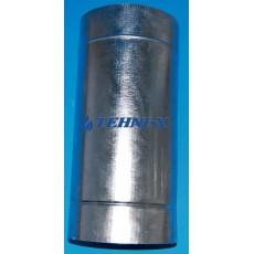 Труба из нержавеющей стали толщиной 0,5 мм с термоизоляцией в оцинкованном кожухе длинна 0,5 м, Ø 120x180 мм (Сэндвич)