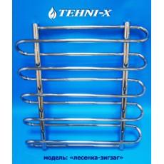 Водяной полотенцесушитель Tehni-x Зигзаг высота 100 см, межосевое расстояние 40