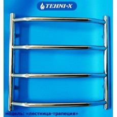 Водяной полотенцесушитель Tehni-x Трапеция высота 50 см, межосевое расстояние 40