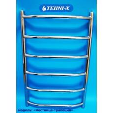Водяной полотенцесушитель Tehni-x Трапеция высота 80 см, межосевое расстояние 40