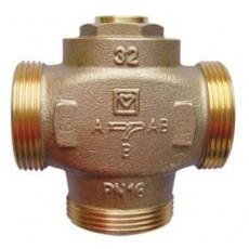 """Термосмесительный трёхходовой клапан  HERZ Teplo-mix 1""""1/4 (DN32) 61град"""