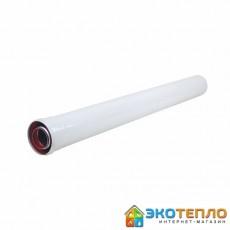 Коаксиальный удлиннитель 60/100/1м для подключения дымохода традиционного котла
