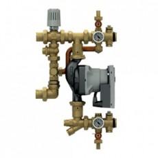 Смесительная группа Giacomini с фиксированным значением, для систем напольного отопления. Глубина 110 мм. Без циркуляционного насоса, с металлической прокладкой, расстояние между центрами 180 мм