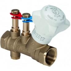 """Статический балансировочный клапан со штуцерами для измерения разницы давления, внутр.-внутр. резьба 1/2"""""""