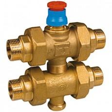 """Зональный клапан вентильный, 3-х ходовой, отводы с наружной резьбой. Подключение термоэлектрорегулятора R473, R473M 1"""""""