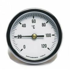 Термометр AR-T/B 65 (Ø65 мм, гільза 100 мм, 0-120°С) аксиальный, задний выход