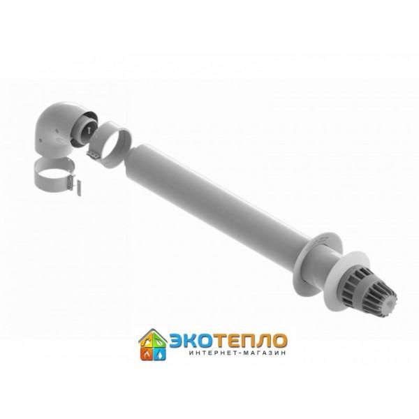 Коаксиальный горизонтальный комплект дымохода 60/100 для конденсационных котлов