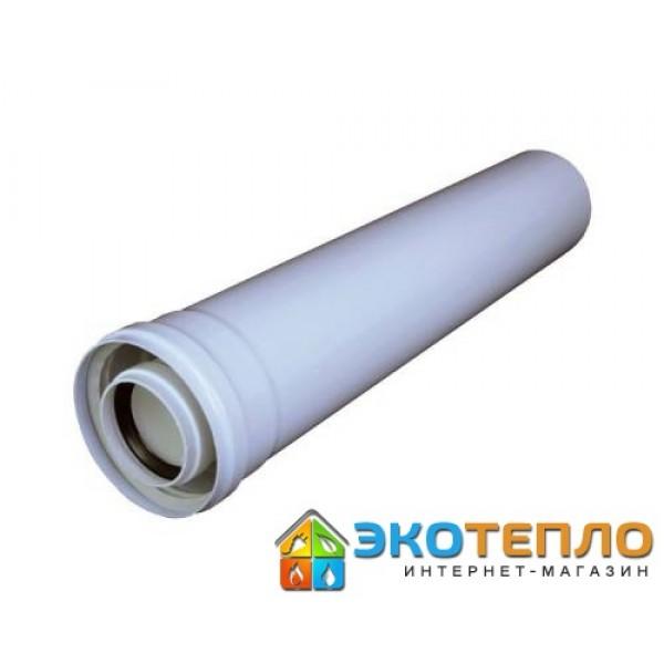 Коаксиальный удлиннитель 110/160/0.5м для подключения дымохода конденсационного котла