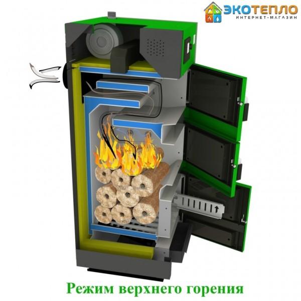 Котел на твердом топливе для отопления 25 кВт длительного горения