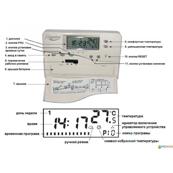 Терморегулятор Regulus TP-08 LCD недельный программатор