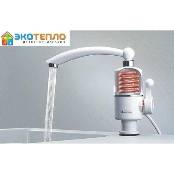 Водонагреватель проточный Delimano 3 кВт кран