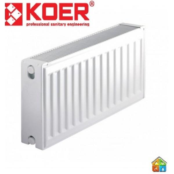 Радиатор стальной 22К 300*1500 KOER