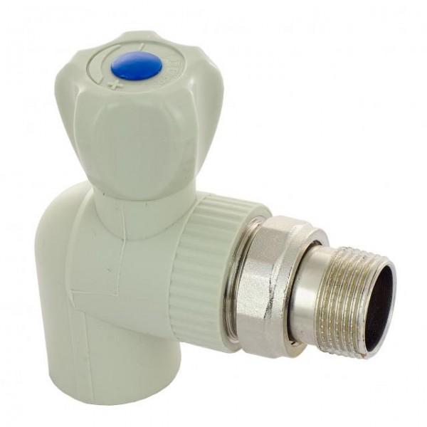 Кран ASG радиаторный угловой 20*1/2 FV с антипротечкой