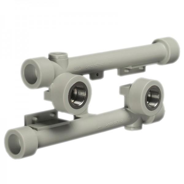 Настенный комплект ASG  2х20х1/2 (двойное настенное колено)