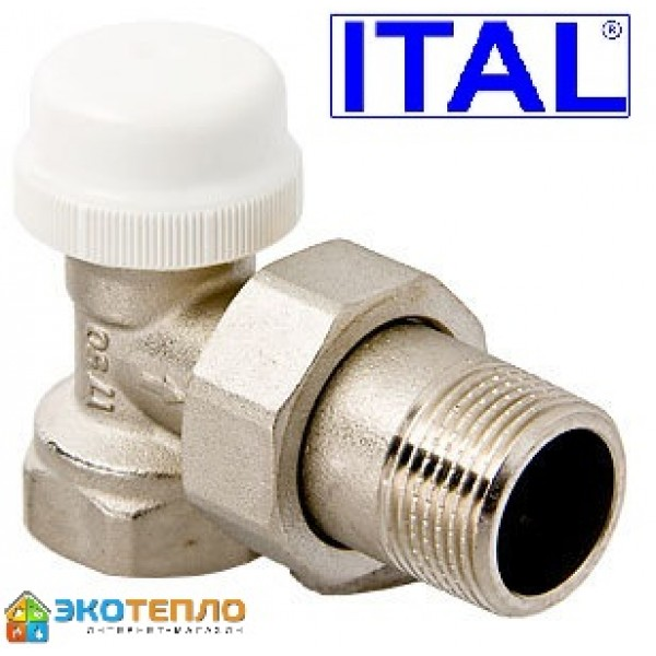 """Термостатический кран  ITAL угловой 1"""""""