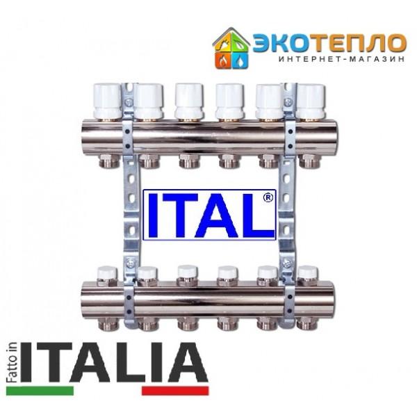 Коллектор для отопления ITAL на 6 контуров