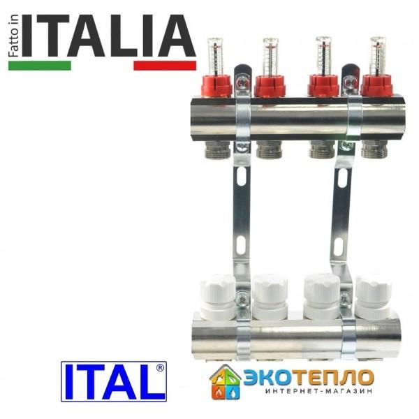 Коллектор для теплого пола ITAL на 4 контура
