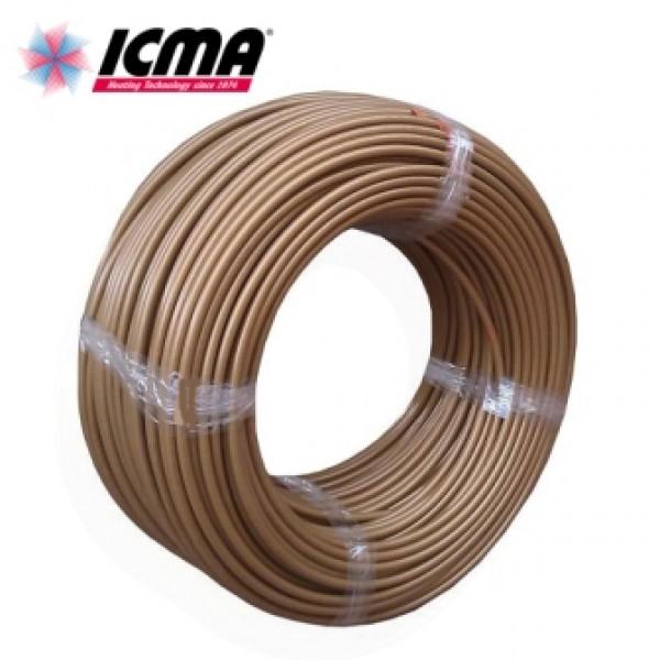 Труба для теплого пола ICMA GOLD 16Х2.0 PEX-A с кислородным барьером