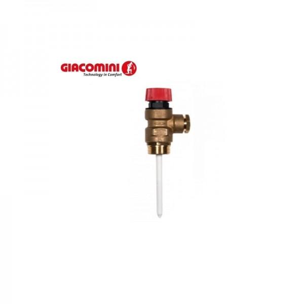 """Комбинированный предохранительный клапан (контроль температуры и давления) 1/2"""" x Ø 15 mm 4 BAR"""