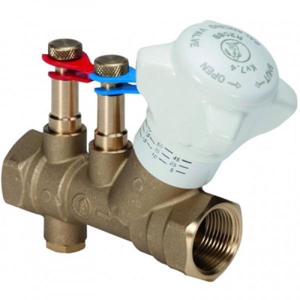 """Статический балансировочный клапан со штуцерами для измерения разницы давления, внутр.-внутр. Резьба 1"""""""