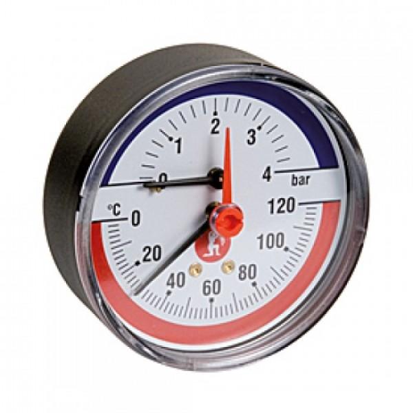 "Термоманометр. 20° ÷ 120°C. 0 ÷ 6 bar. 1/2"""