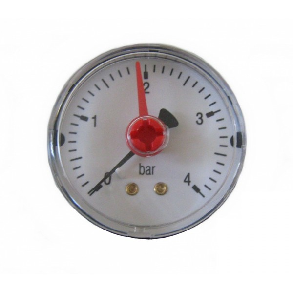 "Манометр MA501/P, 1/4"" (Ø50 мм, 0-6 бар), радиальный, нижний выход, ARTHERMO"