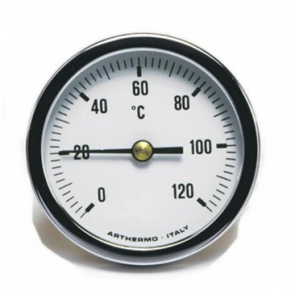 Термометр AR-T/B 65 (Ø65 мм, гільза 50 мм, 0-120°С) аксиальный, задний выход